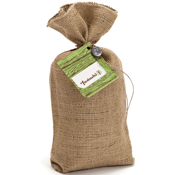 Fastachi burlap bag pistachios with Global Hemp Cord