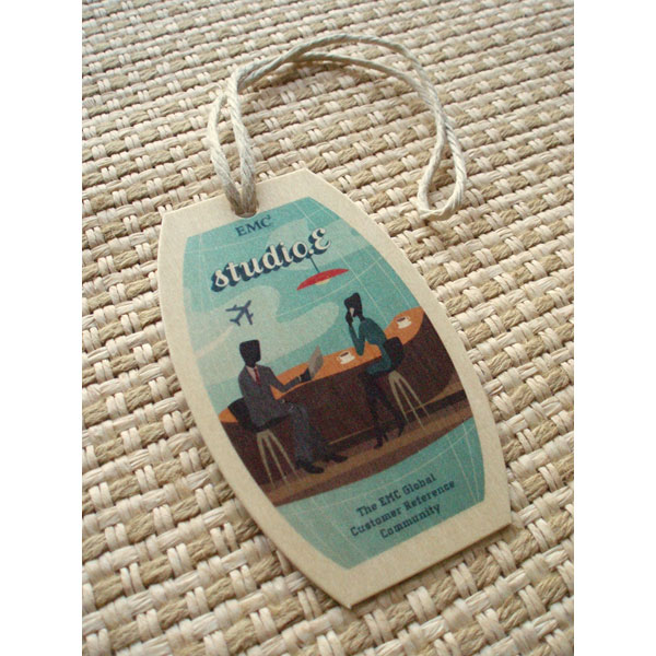 Global Hemp Cord luggage hang tag